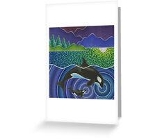 Orca Sonic Love Greeting Card
