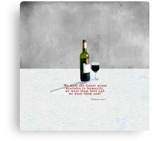 Glass of Wine Canvas Print