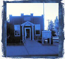Small Town Post Office in Cyanotype by RavenWolf80
