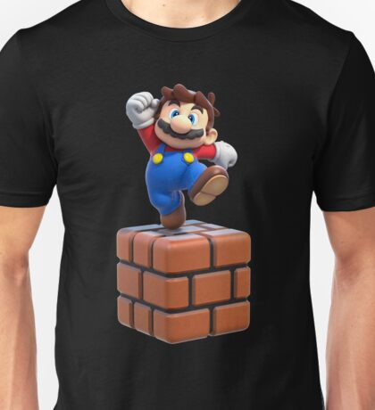 Mario on Block Unisex T-Shirt