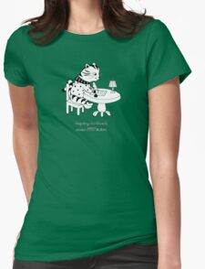 Time Before Email (Green) Womens Fitted T-Shirt