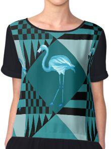 blue flamingo  Chiffon Top