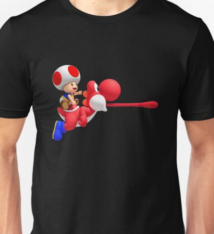 Toad riding on Yoshi Unisex T-Shirt