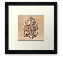 a lady needn't fear being lonely Framed Print