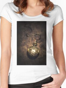 Ornamented pocket watch Women's Fitted Scoop T-Shirt