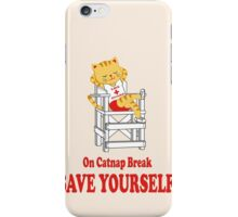 Save Yourself (Beige) iPhone Case/Skin