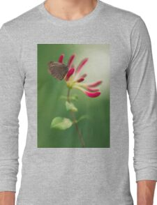 Resting on the pink plant Long Sleeve T-Shirt