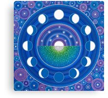 Moon Phase Mandala Canvas Print