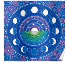 Moon Phase Mandala Poster