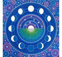 Moon Phase Mandala Photographic Print