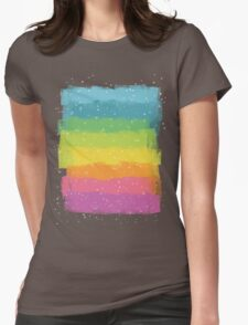 Rainbow chalk Womens Fitted T-Shirt