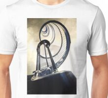 Metal spirals in wide angle Unisex T-Shirt