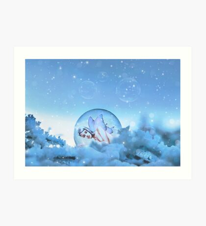 Snow Fairy Art Print