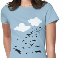 The Birds Womens Fitted T-Shirt