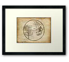 disc golfer Framed Print