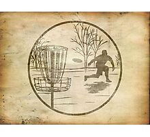 disc golfer Photographic Print
