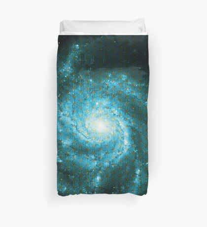Pinwheel Galaxy [Blue Version]   Sacred Geometry Pattern Duvet Cover