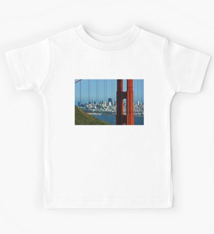 Iconic San Fransisco - Downtown Framed by Red Steel Kids Tee