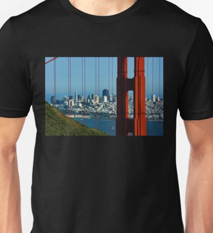 Iconic San Fransisco - Downtown Framed by Red Steel Unisex T-Shirt