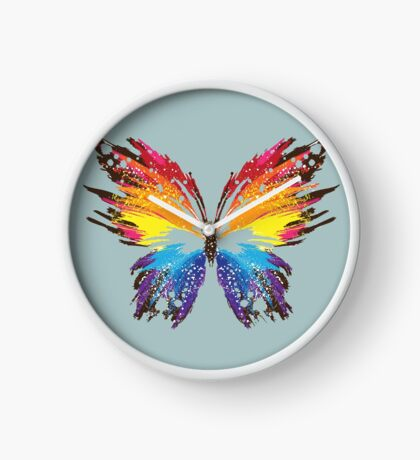 Colorful Butterfly Clock