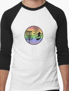 disc golfer Men's Baseball ¾ T-Shirt