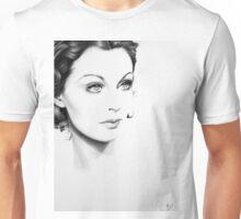 Vivien Leigh Minimal Portrait Unisex T-Shirt