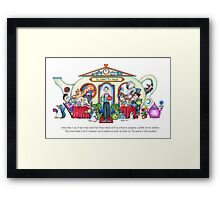 The Grand Tea House Framed Print
