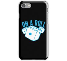 On a roll! lucky dice in blue iPhone Case/Skin
