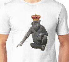 Monkey Dog Wearing Crown Unisex T-Shirt