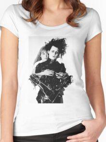 Depp + Ryder / Edward Scissorhands Women's Fitted Scoop T-Shirt