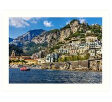 view of beautiful Amalfi Art Print