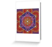Fire Star- Genesis Pattern Greeting Card