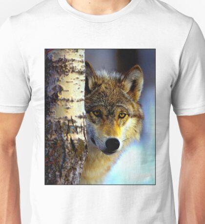 TIMBER WOLF; Vintage Wilderness Print Unisex T-Shirt