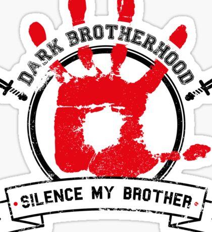 Dark Brotherhood - White Sticker
