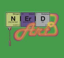 nerd ART - elemental light neon glow One Piece - Short Sleeve