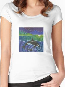 Orca Sonic Love Women's Fitted Scoop T-Shirt