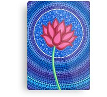 Splendid Calm Lotus Flower Metal Print