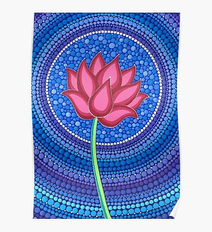 Splendid Calm Lotus Flower Poster
