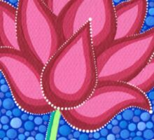 Splendid Calm Lotus Flower Sticker