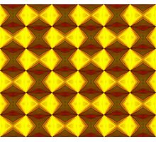 Bold Red, Green and Gold Repeating Pattern Photographic Print