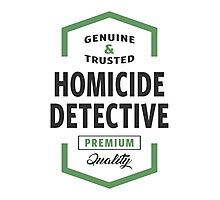 Homicide Detective Logo Gifts Photographic Print