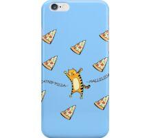Raining Pizza (Blue) iPhone Case/Skin
