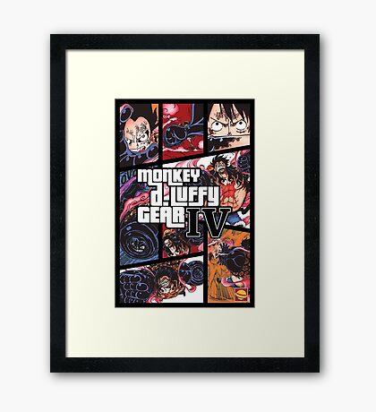 Luffy One Piece / GTA Framed Print