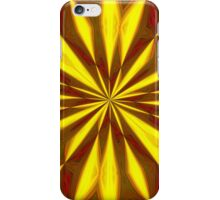 Bold Red, Green and Gold Repeating Starburst iPhone Case/Skin