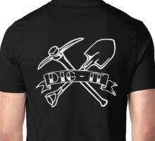 DIG-IT (White) Unisex T-Shirt