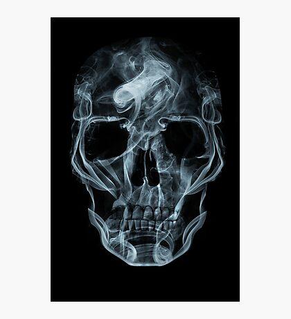 Skull of smoke Photographic Print