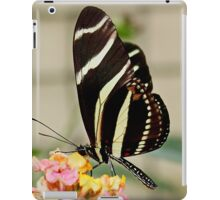 Zebra Longwing Butterfly on Lantana iPad Case/Skin