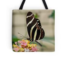 Zebra Longwing Butterfly on Lantana Tote Bag