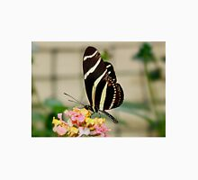 Zebra Longwing Butterfly on Lantana Unisex T-Shirt