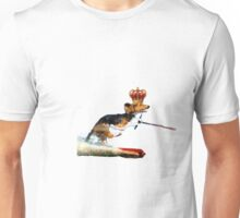 Dog With Crown Water Skiing Unisex T-Shirt